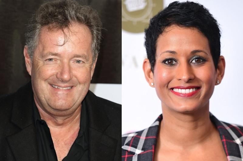 'Good Morning Britain' presenter Piers Morgan has come out in defence of fellow broadcaster Naga Munchetty after the BBC has claimed she broke impartiality guidelines by criticising Donald Trump (Keith Mayhew/Ian West/ Getty)
