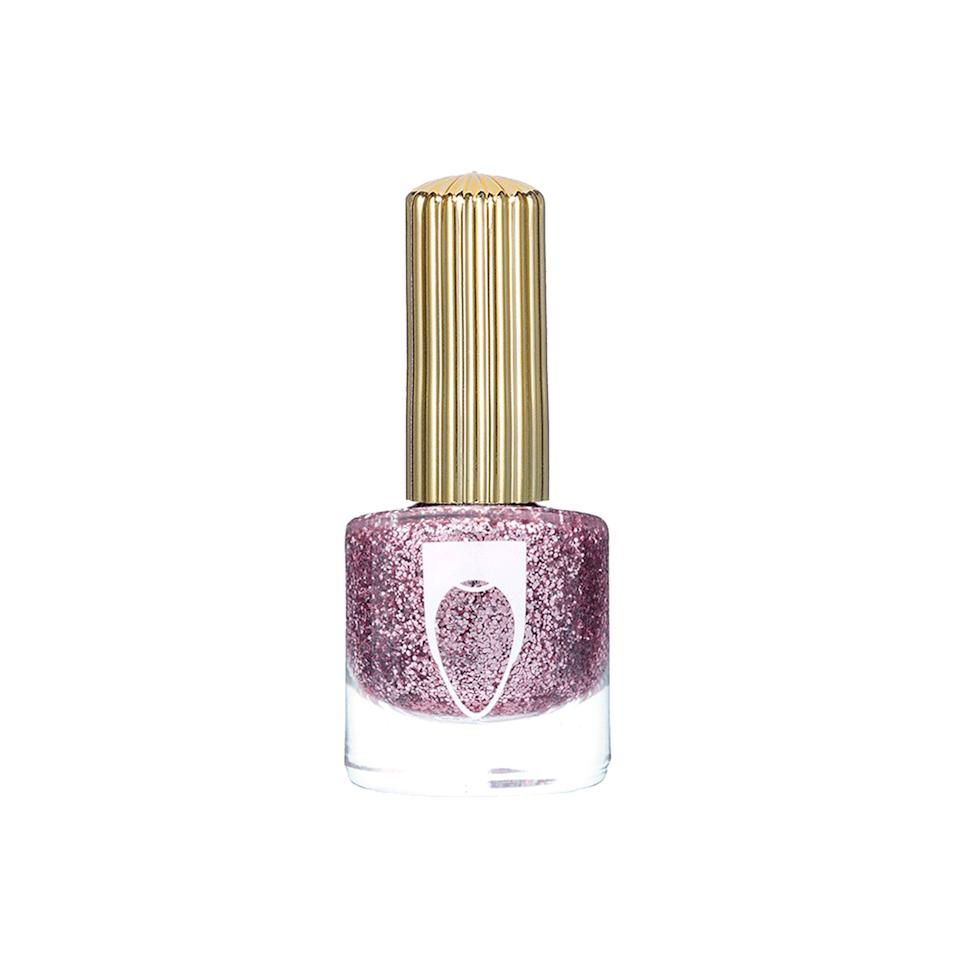 """<p>This soft pink shade from Floss Gloss is named after the Pink Nugget, a Las Vegas casino where """"the once vibrant pink lights now glimmer with a muted blush clouded by years of Aqua Net and cigarette smoke."""" The years may dim the pink, but not the shine; this glitter is as eye-catching as a winning slot machine quarter.</p> <p><strong>$9</strong> (<a href=""""https://flossgloss.com/products/the-pink-nugget"""" rel=""""nofollow"""">Shop Now</a>)</p>"""