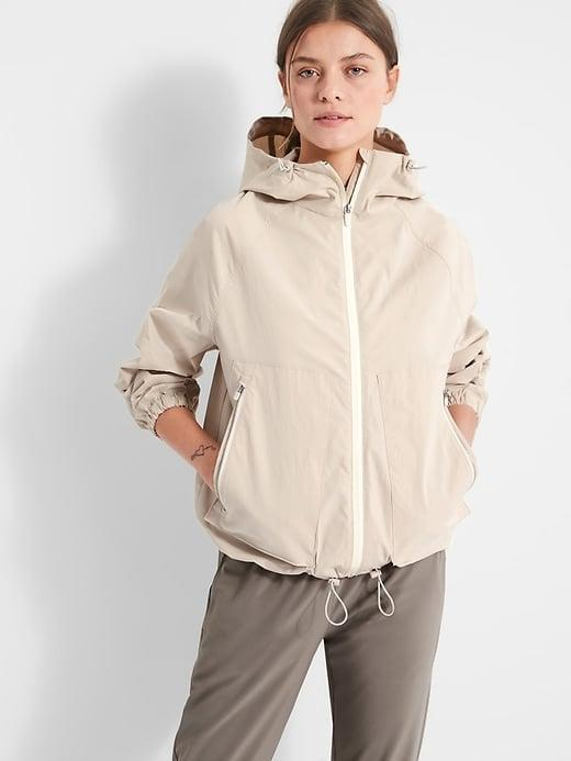 """<p>We especially love the hidden sleeve pocket on this stretchy <span>Banana Republic Rain Jacket</span> ($139) from the <a href=""""https://www.popsugar.com/fashion/best-new-clothes-from-br-standard-48130576"""" class=""""link rapid-noclick-resp"""" rel=""""nofollow noopener"""" target=""""_blank"""" data-ylk=""""slk:new BR Standard collection"""">new BR Standard collection</a>.</p>"""