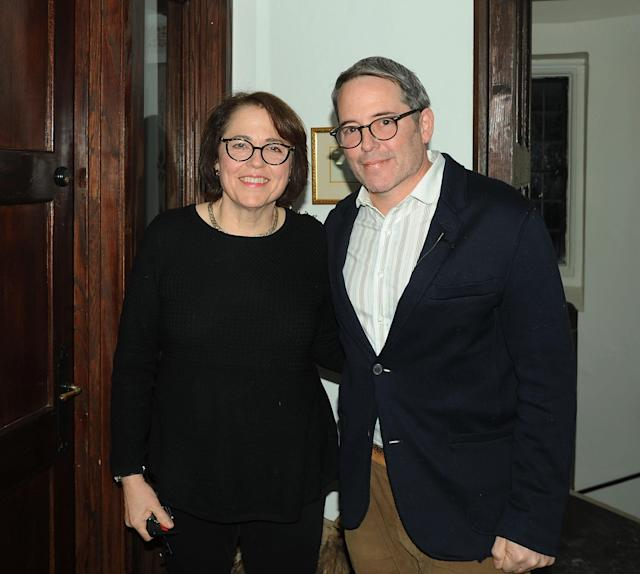 Matthew Broderick and his sister, the Rev. Janet Broderick, in 2018. (Photo: Bobby Bank/Getty Images)