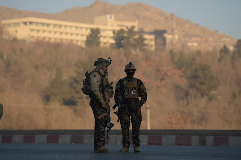 Afghan security forces were still trying to clear the landmark hilltop Intercontinental Hotel after an attack by gunmen killed at least five people and wounded eight others in Kabul
