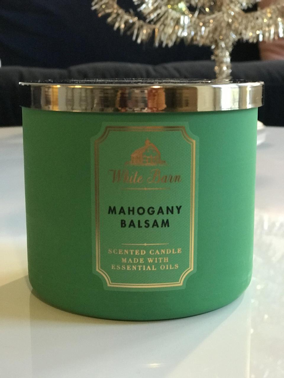 <p><span>Mahogany Balsam 3-Wick Candle</span> ($15, originally $25)</p> <p><strong>What It Smells Like:</strong> This smells like luxury. I don't know if it's the hint of Juniper Berry or the wood notes, it just smells like it costs a lot of money.</p>