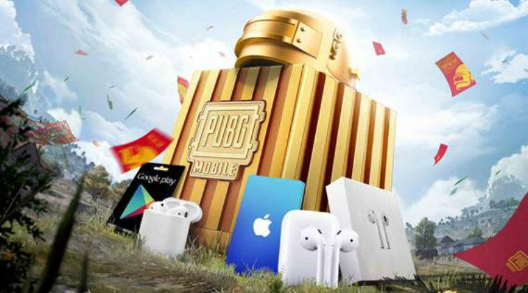 PUBG Mobile, PUBG Mobile gifts, Real PUBG Mobile Level 3 Gold Helmet, PUBG Mobile Apple Air Pods, PUBG Mobile real gifts