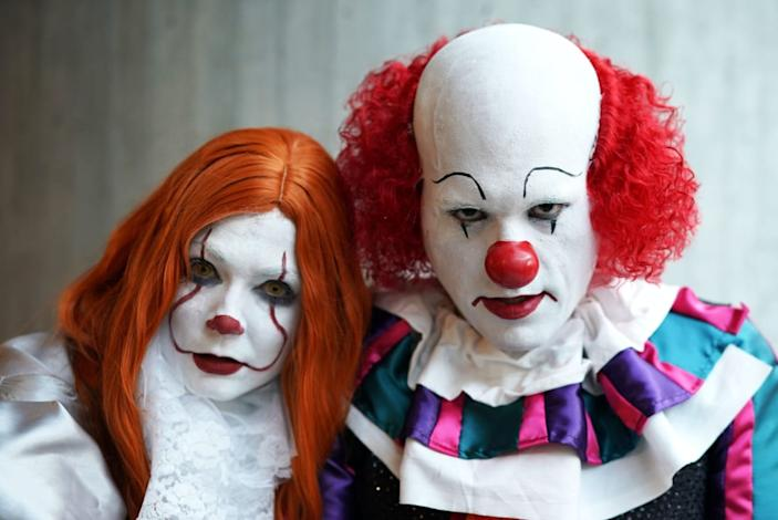 """<div class=""""inline-image__caption""""><p>Cosplayers arrive for the third day of the 2019 New York Comic Con at the Jacob Javits Center on October 5, 2019 . - The four-day event is the largest pop culture event on the East Coast. </p></div> <div class=""""inline-image__credit"""">TIMOTHY A. CLARY/Getty</div>"""