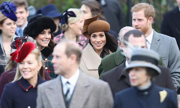 Kate Middleton spotted with Meghan Markle and Prince Harry at Sandringham during Christmas outdoors