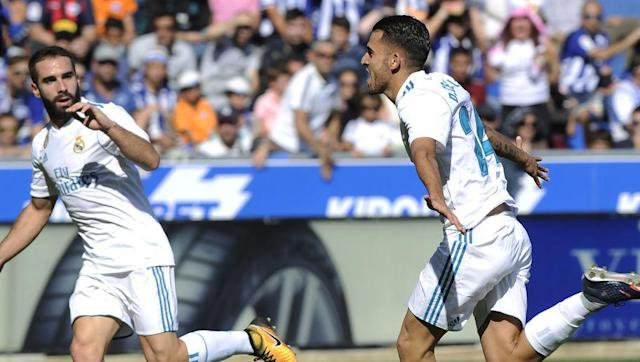 <p>From big-spending Milan to surprisingly low key Real Madrid, who have had something of an unexpectedly uncomfortable start to the new season, while some of the most hyperbolic commentators even predicting the end is nigh for Zinedine Zidane's kings of Europe.</p> <br><p>Florentino Perez didn't do much business over the summer (by his own standards) but one man who did arrive finally made his debut to save some Galactic blushes in a nervy 1-2 win over bottom of the table Alaves.</p> <br><p>Already seven points off Barcelona, and following the shock home defeat to Betis, Real needed a reaction on Saturday and the star of the summer's U21 Euros was on hand to (following the cliched football narrative) ensure a blip didn't turn into a crisis.</p> <br><p>In a Toni Kroos and Luka Modric-free midfield, €18m Ceballos ran the show in the Basque country, scoring twice, while Cristiano Ronaldo could only strike the woodwork.</p>