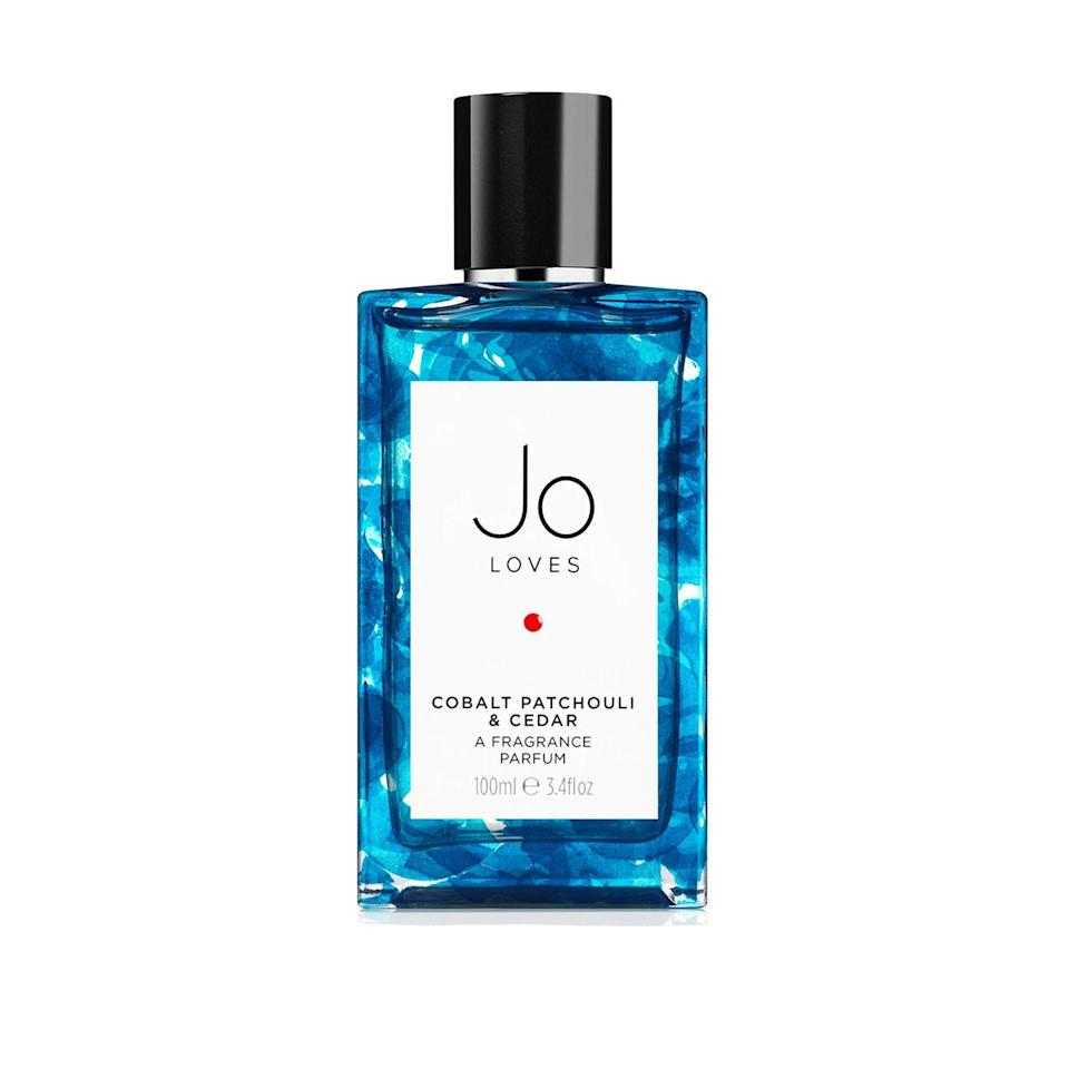 """<p><a class=""""link rapid-noclick-resp"""" href=""""https://go.skimresources.com?id=127X678080&xs=1&url=https%3A%2F%2Fwww.joloves.com%2Fcobalt-patchouli-cedar-fragrance.html"""" rel=""""nofollow noopener"""" target=""""_blank"""" data-ylk=""""slk:SHOP"""">SHOP </a></p><p>The idea behind this perfume was the feeling of liberation after a year of restriction, with notes of vetiver, patchouli, cedarwood, and grapefruit being conjured up by a walk around London's Mayfair.<br></p><p>£115, Jo Loves</p>"""