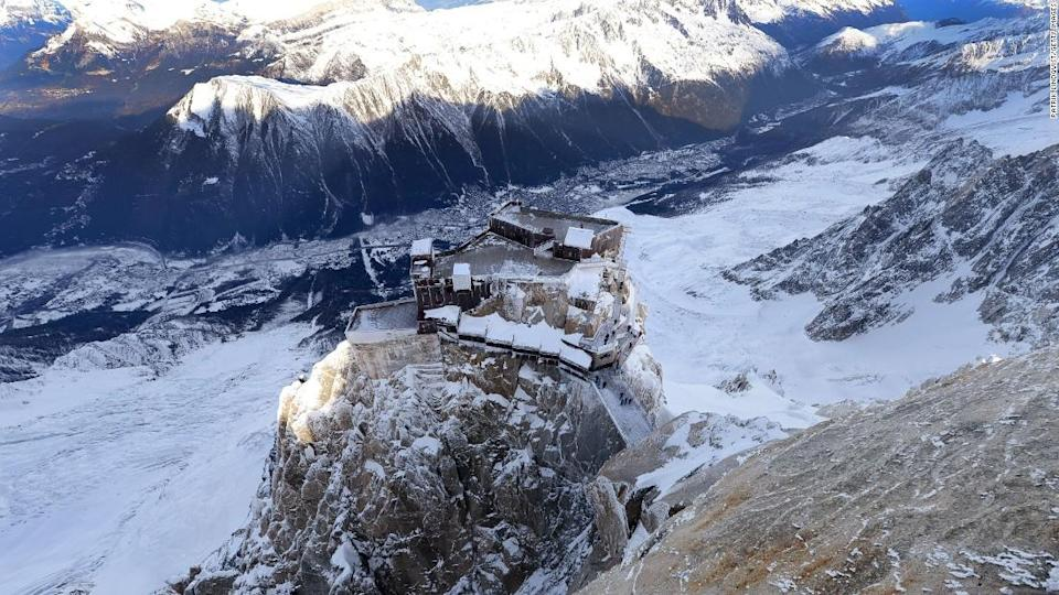 "<p>Auguille du Midi promises high altitude panoramas.</p><div class=""cnn--image__credit""><em><small>Credit: Patrik Lindqvist/Getty Images / Getty</small></em></div>"