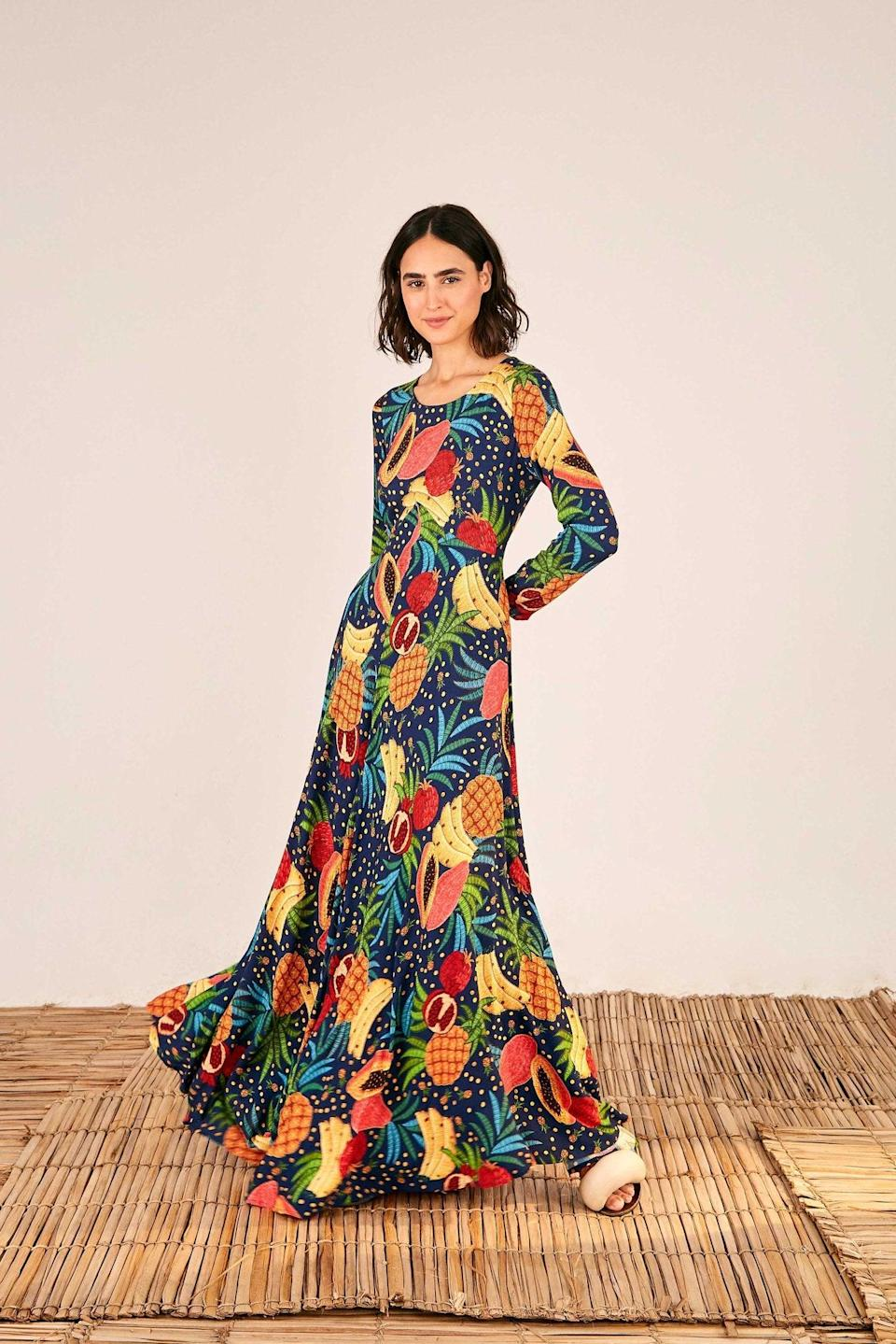 """<br><br><strong>Farm Rio</strong> Fruit Forest Maxi Dress, $, available at <a href=""""https://go.skimresources.com/?id=30283X879131&url=https%3A%2F%2Fwww.farmrio.com%2Fcollections%2Fsale%2Fproducts%2Ffruit-forest-maxi-dress"""" rel=""""nofollow noopener"""" target=""""_blank"""" data-ylk=""""slk:Farm Rio"""" class=""""link rapid-noclick-resp"""">Farm Rio</a>"""