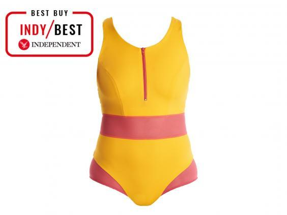 This colourful swimsuit does more than just look good, it's also supportive, secure and eco-friendly (The Independent)