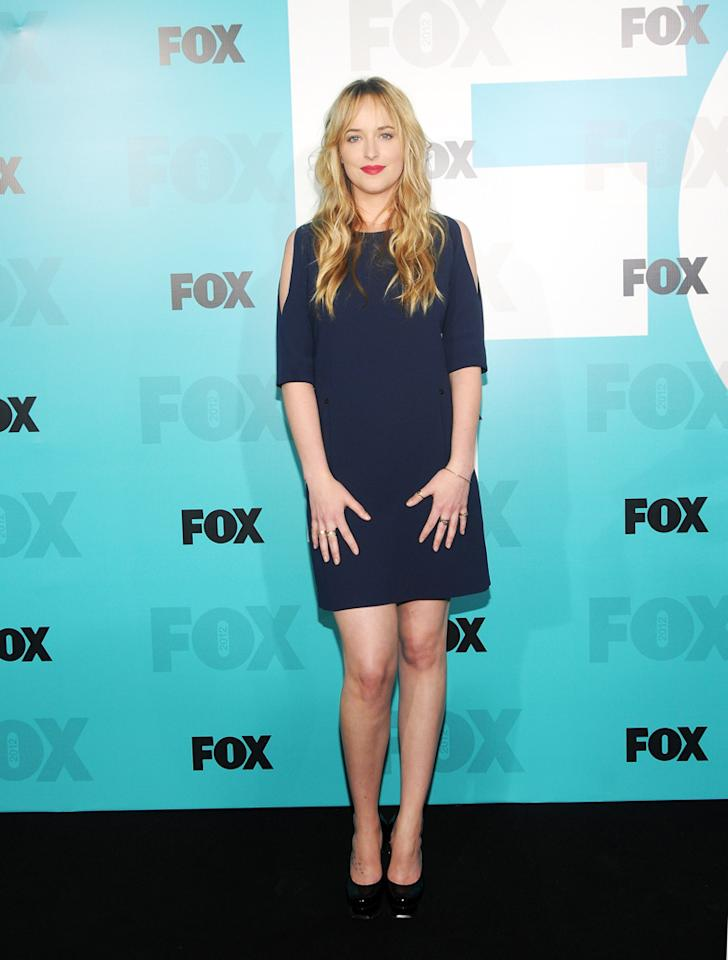 """Dakota Johnson (""""Ben and Kate"""") attends the Fox 2012 Upfronts Post-Show Party on May 14, 2012 in New York City."""