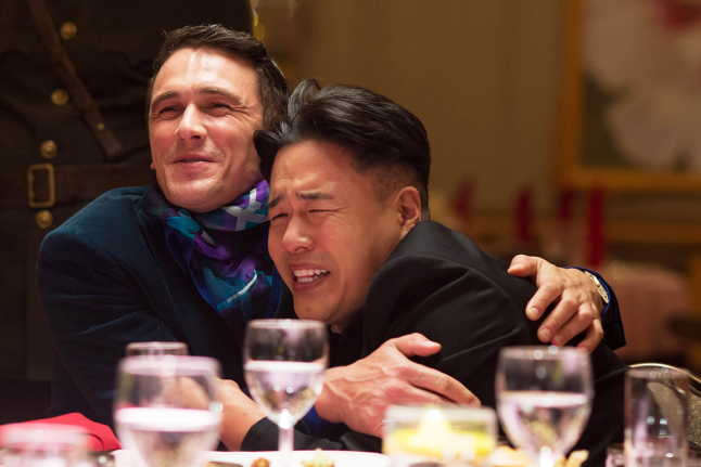 """<p>Ah, yes. The film where James Franco and Seth Rogen <em>actually</em> pissed off North Korea. What starts as a movie where the two play a journalist and producer who go to interview Kim Jong-Un turns into an insane tale where the CIA asks them to kill the leader. It's full of laughs and also just a hair of political anxiety. You know, like life!</p><p><a class=""""link rapid-noclick-resp"""" href=""""https://www.netflix.com/watch/70305895?trackId=250326522&tctx=2%2C13%2Cfb936751-a890-4a9e-a533-40f57bd77d5c-2624889%2Cf7a1b30e-4356-47dd-b656-6f14180f521d_6467822X54XX1584120660973%2Cf7a1b30e-4356-47dd-b656-6f14180f521d_ROOT"""" rel=""""nofollow noopener"""" target=""""_blank"""" data-ylk=""""slk:Watch Now"""">Watch Now</a><br></p>"""