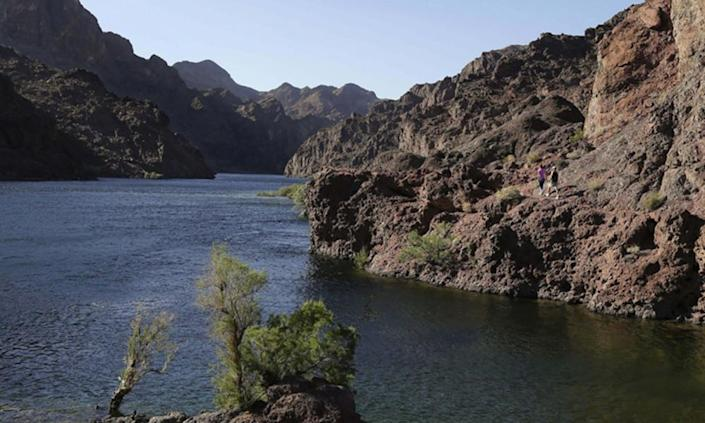 "<span class=""element-image__caption"">Several states rely on the Colorado River for drinking water and growing crops.</span> <span class=""element-image__credit"">Photograph: Julie Jacobson/AP</span>"