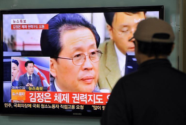 South Korean TV shows news about the alleged dismissal of Jang Song-Thaek, North Korean leader Kim Jong-Un's uncle, in Seoul, on December 3, 2013