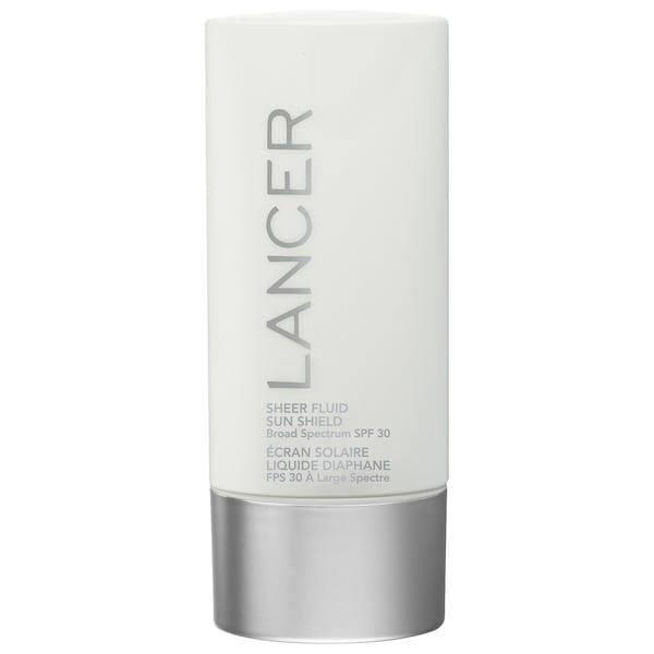 <p>The <span>Lancer Skincare Sheer Fluid Sun Shield Broad Spectrum SPF 30 Sunscreen</span> ($54, originally $60) is lightweight, non-greasy, and adds in a special anti-aging complex, too.</p>