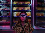 """<p>Eleven's steady serving lewks for all of <em>ST3</em> (which she fully deserves after two seasons of Mike's and Hopper's hand-me-downs). This <a href=""""https://go.redirectingat.com?id=74968X1596630&url=https%3A%2F%2Fwww.levi.com%2FUS%2Fen_US%2Fapparel%2Fclothing%2Ftops%2Flevis-x-stranger-things-el-aztec-shirt%2Fp%2F843580000&sref=https%3A%2F%2Fwww.seventeen.com%2Fcelebrity%2Fmovies-tv%2Fg28354429%2Fdiy-stranger-things-halloween-costumes%2F"""" rel=""""nofollow noopener"""" target=""""_blank"""" data-ylk=""""slk:Levi's x Stranger Things shirt"""" class=""""link rapid-noclick-resp"""">Levi's x Stranger Things shirt</a> is sold out online, but you can probably find a lookalike at your local thrift shop. Then all you need is an American flag bandana and a supermarket for that perfect IG shot.</p><p><strong>What you'll need:</strong> <em>American Flag Bandana, $7, Amazon</em> </p><p><a class=""""link rapid-noclick-resp"""" href=""""https://www.amazon.com/Rothco-American-Flag-Bandana/dp/B000RY3XFS?tag=syn-yahoo-20&ascsubtag=%5Bartid%7C10065.g.28354429%5Bsrc%7Cyahoo-us"""" rel=""""nofollow noopener"""" target=""""_blank"""" data-ylk=""""slk:SHOP NOW"""">SHOP NOW</a></p>"""