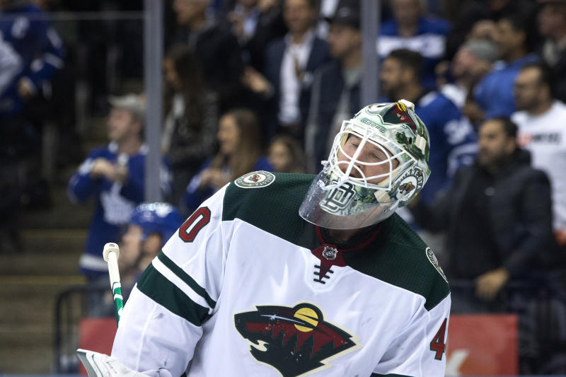 Wild G Dubnyk leaves game after collision