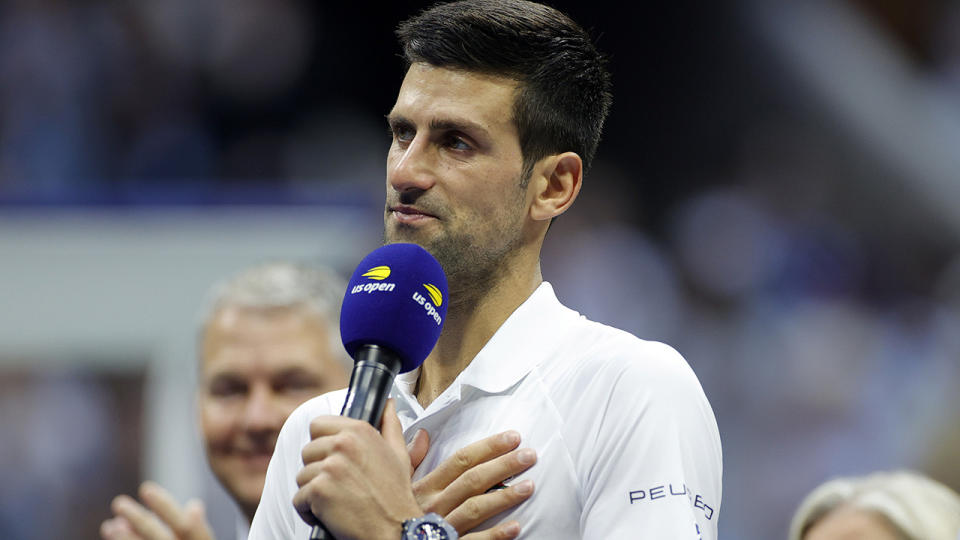 Novak Djokovic has previously gone on the record about his anti-vaccination stance. (Photo by Sarah Stier/Getty Images)