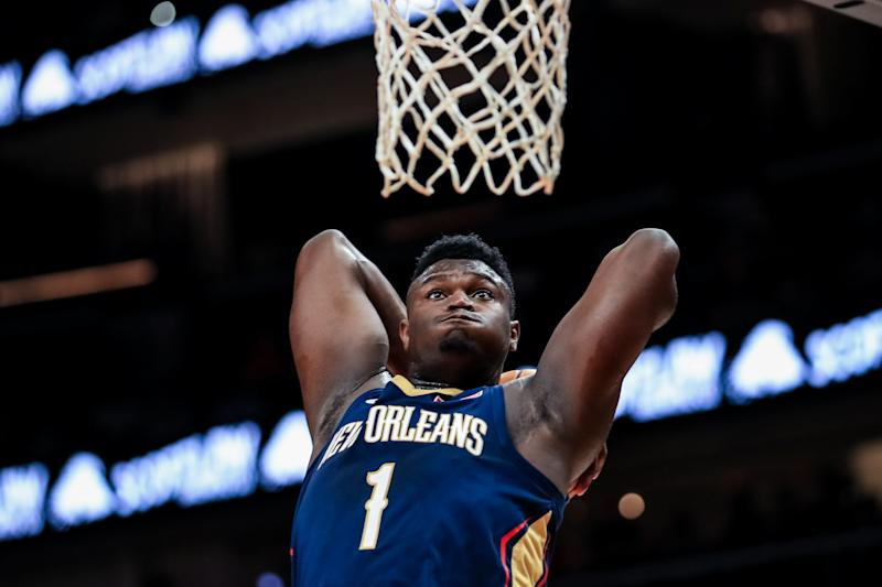 Zion Williamson。(Photo by Carmen Mandato/Getty Images)