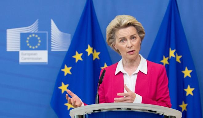 European Commission President Ursula von der Leyen said a lot of work remained to be done. Photo: Etienne Ansotte/European Commission/dpa