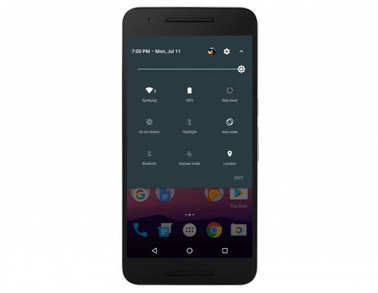 the new android nougat quick settings menu