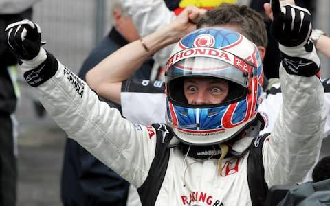 <span>Jenson Button had to wait until 2006 for his first Grand Prix victory but ended his career with 15 wins overall</span> <span>Credit: AP </span>