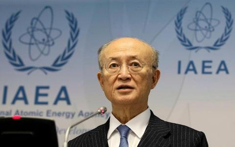 <span>Director General of the International Atomic Energy Agency, IAEA, Yukiya Amano of Japan, addresses the media during a news conference after a meeting of the board </span> <span>Credit: AP </span>