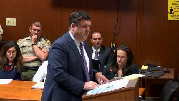 PHOTO: Defense attorney Chad Frese makes closing arguments in Cristhian Bahena Rivera's murder trial of University of Iowa student Mollie Tibbetts, May 27, 2021, in Davenport, Iowa. (Pool via WQAD)