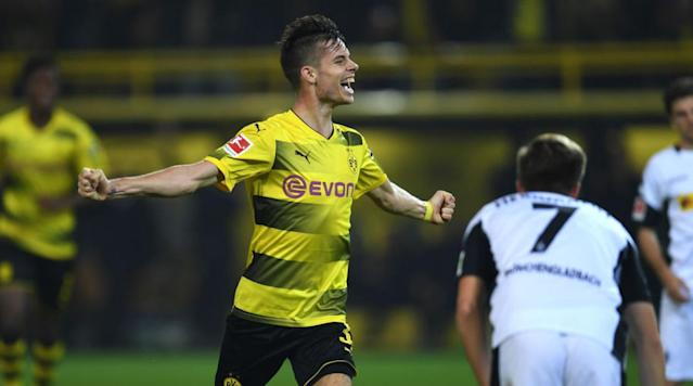 "<p>Manchester City is believed to be weighing-up a summer swoop for Borussia Dortmund midfielder enforcer Julian Weigl - but will have to pay a least £40m to secure the services of the German international.</p><p>As reported by the <a href=""https://www.mirror.co.uk/sport/football/transfer-news/manchester-city-ready-test-borussia-12044688"" rel=""nofollow noopener"" target=""_blank"" data-ylk=""slk:Mirror"" class=""link rapid-noclick-resp"">Mirror</a>, City boss Pep Guardiola is already looking ahead to next summer's transfer market, and is looking for a midfield enforcer to provide additional support to his defence - and Weigl has been identified as the perfect candidate for the job. However, BVB won't let the 22-year-old leave on the cheap, and will push for at least £40m if they are to sell.</p><p>Weigl made a name for himself as a youngster at 1860 Munich, before being snapped up by BVB in 2015. The 6ft 2' powerhouse has developed rapidly since making the step up, and is now widely considered as one of the most talented young midfielders in the country. Weigl is likely to be in Germany's 2018 World Cup squad, as they look to retain their 2014 title.</p><p>The robust midfielder has been an integral part of a solid season for BVB thus far, with Die Schwarzgelben currently sitting just a point away from second place in Bundesliga with a game in hand. While Bayern Munich look to be running away with the title, the five sides bellow them are separated by just two points, in what is set to be a thrilling race for Champions League qualification.</p><p>Meanwhile Man City will be looking to avoid an FA Cup upset on Monday night, when they travel to League One high-flyers Wigan Athletic. The Latics have already claimed the Premier League scalps of Bournemouth and West Ham United so far in the cup, and City will need to keep their wits about them if they're to safely progress to the quarter-final.</p>"
