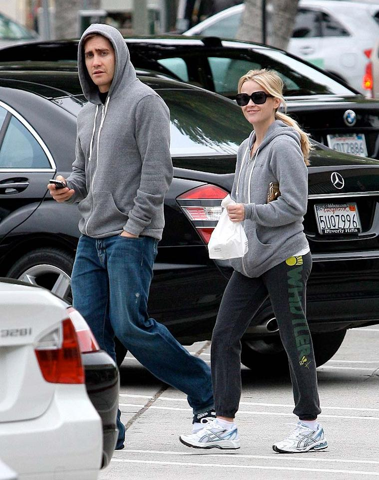 """Things are getting serious between Jake Gyllenhaal and Reese Witherspoon (seen here on Monday), but will the celebrity couple tie the knot soon? Jake was recently spotted ring shopping, but Reese reportedly wants to wait to wed. The actress revealed to Elle Magazine last week that her divorce from ex-husband Ryan Phillippe was """"very humiliating and very isolating."""" MBF/<a href=""""http://www.x17online.com"""" target=""""new"""">X17 Online</a> - March 2, 2009"""