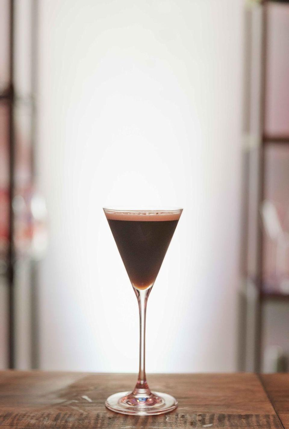 <p><strong>Ingredients</strong></p><p>1.5 oz Grey Goose Vodka<br>1 oz espresso<br>.75 oz premium coffee liqueur<br>1 pinch salt</p><p><strong>Instructions</strong></p><p>Add all ingredients together into a shaker and shake vigorously. Strain into a martini glass. Garnish with salted dark chocolate powder.</p>