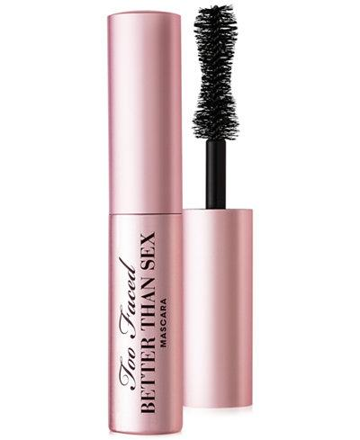 """<p>Just as powerful as the full size, this miniature mascara boasts an hourglass-shaped brush that helps to separate, curl, and define each lash. $12, <a rel=""""nofollow"""" href=""""http://www1.macys.com/shop/product/too-faced-better-than-sex-mini-mascara?ID=2261609&cm_mmc=Polyvore-_-Polyvore_Beauty_PLA-_-n-_-mascara"""">Macy's</a>. </p>"""