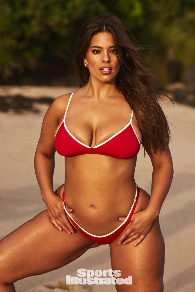 "<p>Ashley Graham was photographed by Josie Clough in Nevis. Swimsuit by <a href=""http://www.morgan-lane.com"" rel=""nofollow noopener"" target=""_blank"" data-ylk=""slk:Morgan Lane"" class=""link rapid-noclick-resp"">Morgan Lane</a>.</p>"