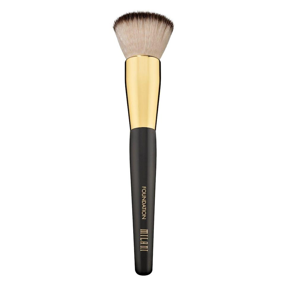 """<p>We get the appeal of using a makeup sponge, but investing in a dense foundation brush like this may just change your mind.</p><br><br><strong>Milani</strong> Foundation Brush, $11.99, available at <a href=""""https://www.target.com/p/milani-foundation-brush/-/A-75560832"""" rel=""""nofollow noopener"""" target=""""_blank"""" data-ylk=""""slk:Target"""" class=""""link rapid-noclick-resp"""">Target</a>"""