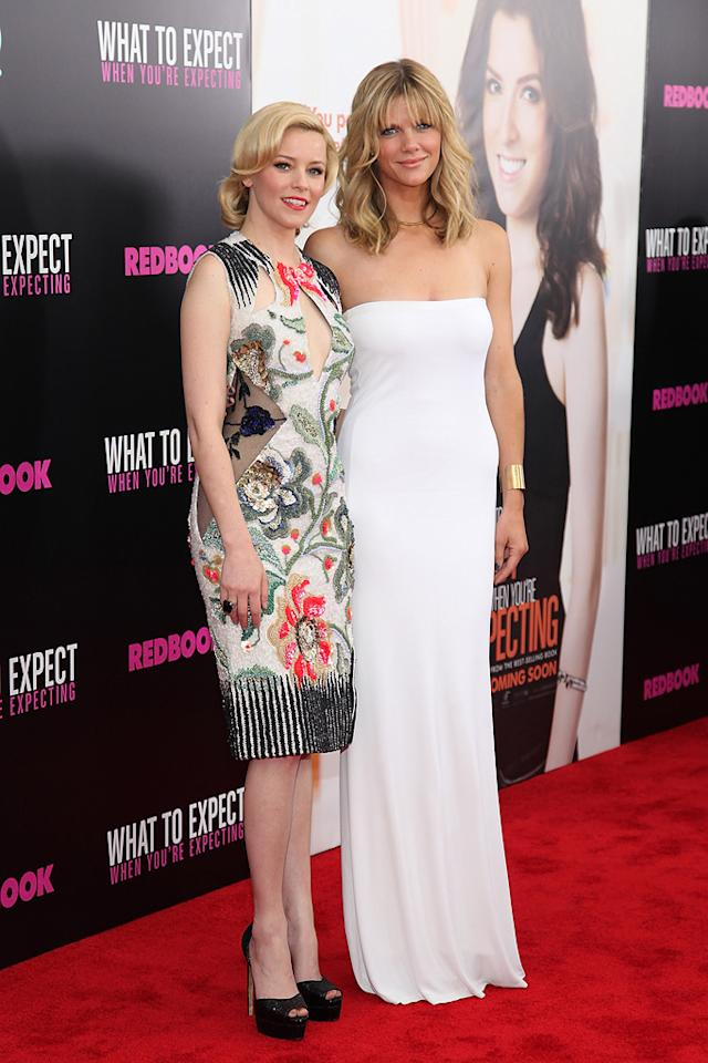 """Elizabeth Banks and Brooklyn Decker attend the New York City premeire of """"What to Expect When You're Expecting"""" on May 8, 2012."""