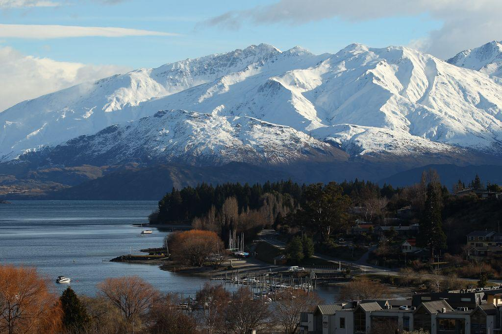 A general view of Wanaka town centre in Wanaka, New Zealand.