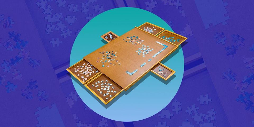 "<p>Time to step up your jigsaw-making game with a puzzle board. Not only do they provide a hard and stable surface for your <a href=""https://www.bestproducts.com/lifestyle/g20054950/cool-jigsaw-puzzles-for-adults/"" rel=""nofollow noopener"" target=""_blank"" data-ylk=""slk:1,000-piece puzzle"" class=""link rapid-noclick-resp"">1,000-piece puzzle</a>, but they can help you transport it between the dining and the coffee table, no matter your progress. Some of them even include little drawers to keep all your pieces safe. So whether you're looking for an affordable puzzle board or one that lets you laminate and display your finished creation, there's an option out there for all types of puzzle builders. </p><p>Here are our favorite puzzle boards available on Amazon. </p>"