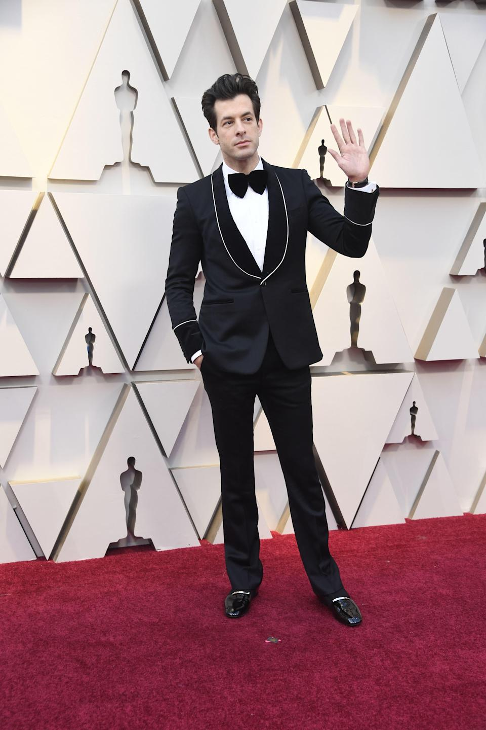 Mark Ronson in Chopard jewelry and Roger Vivier shoes