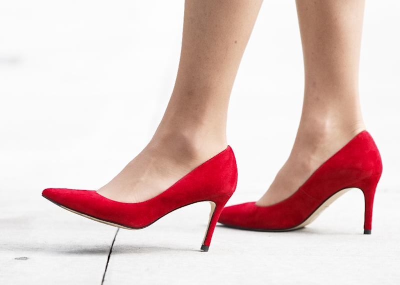 """""""In some workplaces in our province, women are required to wear high heels on the job. Like most British Columbians, our government thinks this is wrong,"""" the province's premier Christy Clark said"""