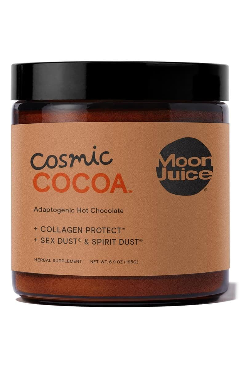 <p>Sometimes, wellness means chocolate, so this <span>Moon Juice Cosmic Cocoa Adaptogenic Hot Chocolate</span> ($30) is a yes from us.</p>