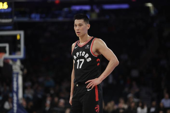 """Jeremy Lin accused Donald Trump of """"empowering"""" racism and amplifying the stigmatization of Asian-Americans during the coronavirus pandemic. (AP Photo/Frank Franklin II)"""