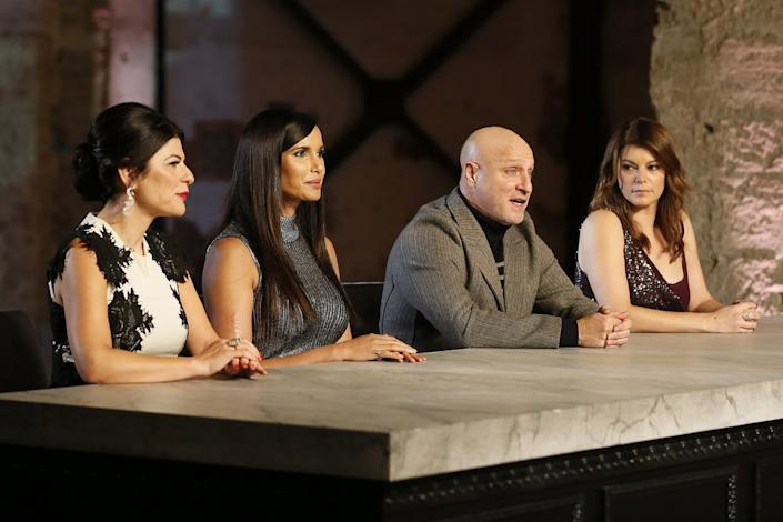 "Nilou Motamed, from left, Padma Lakshmi, Tom Colicchio and Gail Simmons presided over the finale's judges' table. <span class=""copyright"">(Ernesto Ruscio / Bravo)</span>"