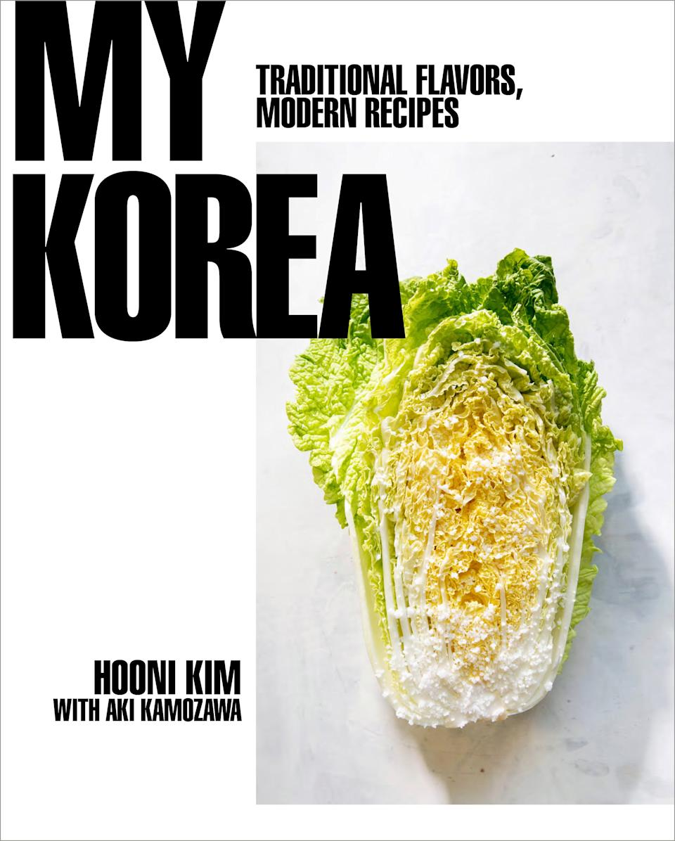 "<h1 class=""title"">My Korea</h1><div class=""caption""><a href=""https://www.amazon.com/My-Korea-Traditional-Flavors-Recipes/dp/0393239721"" rel=""nofollow noopener"" target=""_blank"" data-ylk=""slk:Buy Kim's cookbook My Korea on Amazon."" class=""link rapid-noclick-resp"">Buy Kim's cookbook <em>My Korea</em> on Amazon.</a></div>"