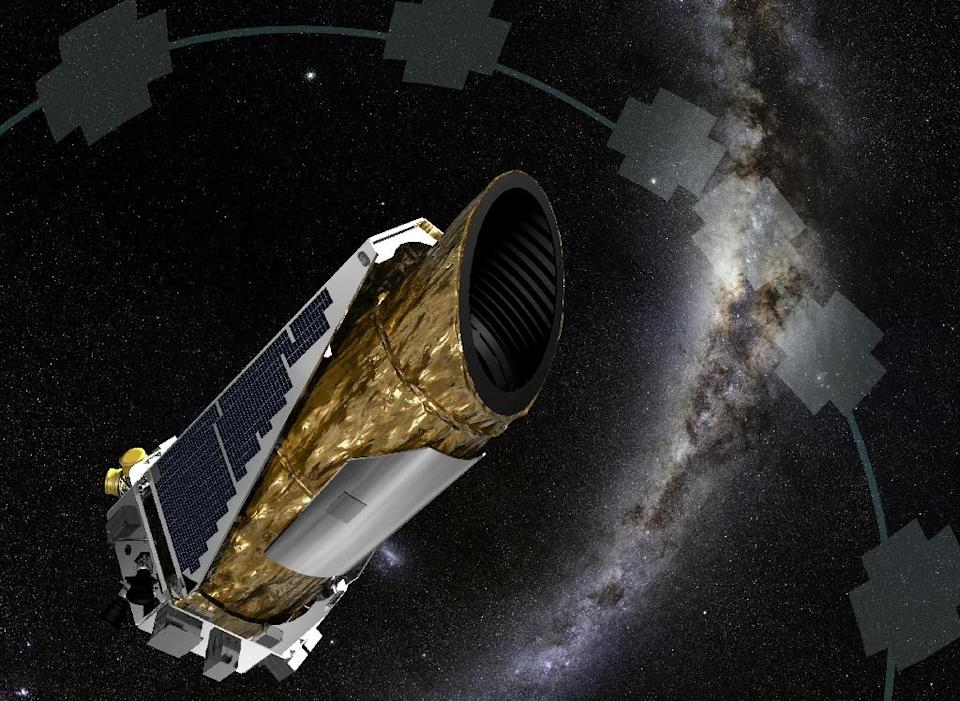 The unmanned Kepler space observatory, which launched in 2009, has been scanning 150,000 stars for signs of orbiting bodies, particularly those that might be able to support life (AFP Photo/)