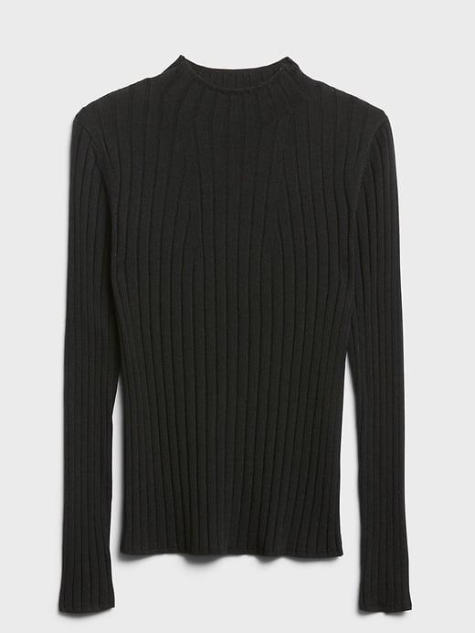 <p>This <span>Banana Republic Merino Ribbed Sweater in Responsible Wool</span> ($23, originally $80) is a wardrobe staple. A black mockneck with light washed straight jeans and a pair of loafers is so classically Carolyn Bessette-Kennedy.</p>