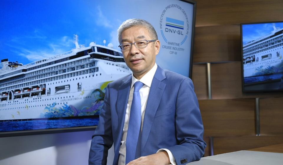 Kent Zhu, the president of Genting Cruise Lines. Photo: Tory Ho