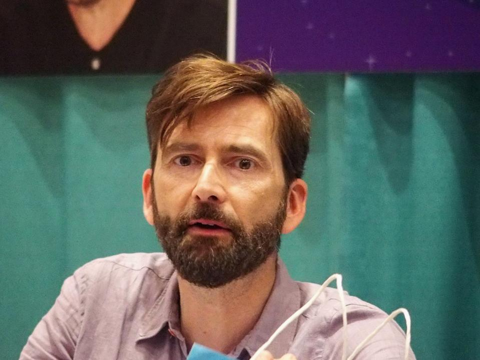 RALEIGH, NC - JULY 26:  David Tennant attends the GalaxyCon Raleigh 2019 at Raleigh Convention Center on July 26, 2019 in Raleigh, North Carolina.  (Photo by Bobby Bank/Getty Images)
