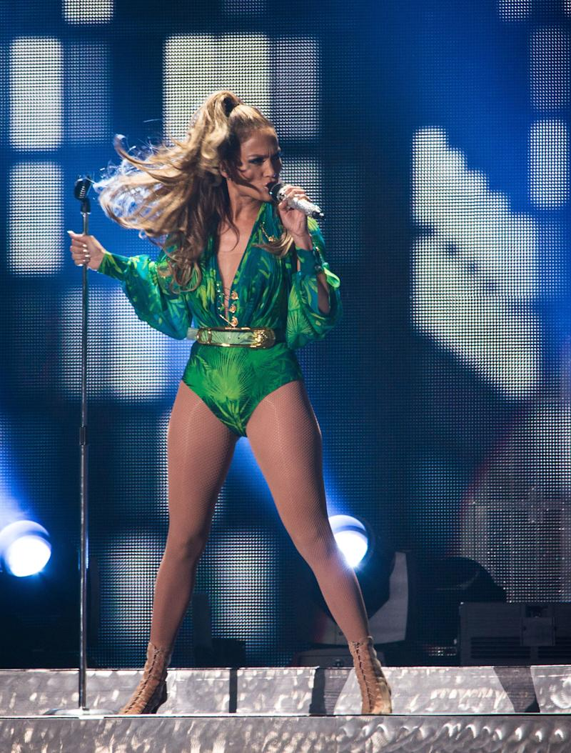 BRONX, NY - JUNE 04: Jennifer Lopez performs at Orchard Beach on June 4, 2014 in Bronx, New York. (Photo by Dave Kotinsky/Getty Images)