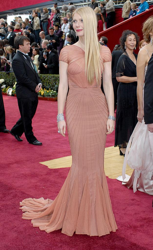 <p>Gwyneth Paltrow owned this intricate Zac Posen number. (Photo: Getty Images) </p>