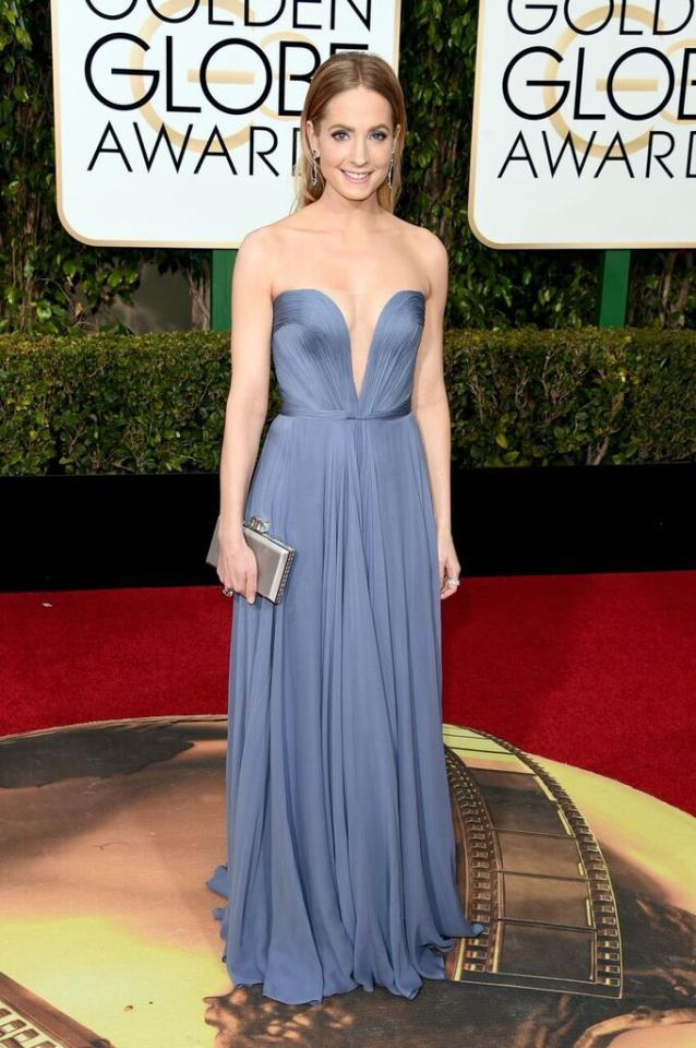 Best: Joanne Froggatt in Reem Acra at the 73rd Annual Golden Globe Awards.